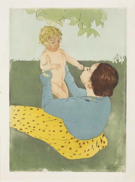 Mary Cassatt, Under the Horse-Chestnut Tree