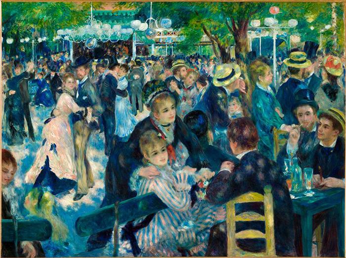 Pierre-Auguste Renoir, Ball at the Moulin DE La Galette, 1876