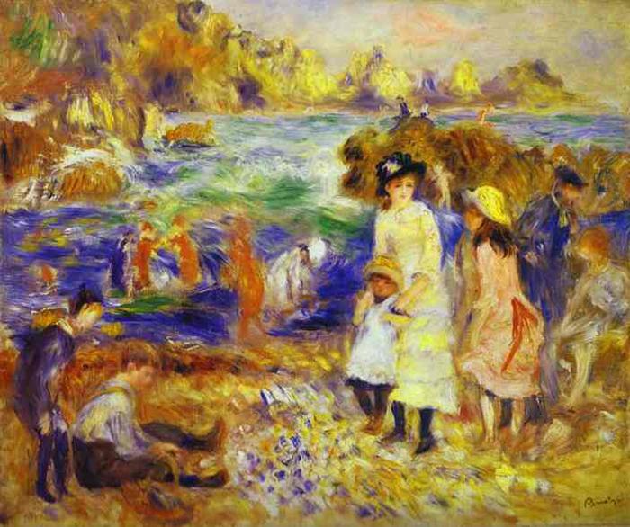 Pierre -Auguste Renoir, Children on the Beach of Guernesey, 1883
