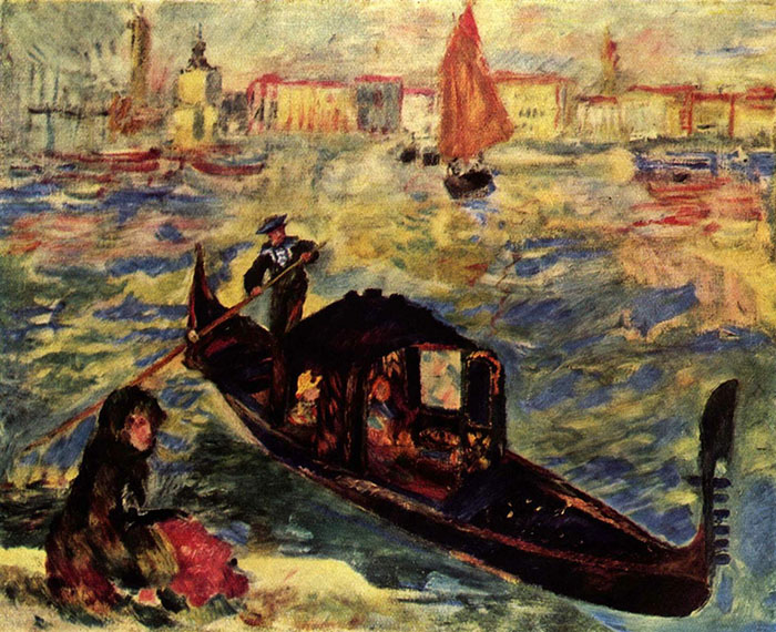 Pierre-Auguste Renoir, Gondola on the Grand Canal in Venice, 1881