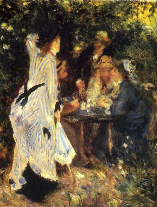 Pierre-Auguste Renoir, In the Garden. Under the Trees of Moulin DE La Galette, 1876