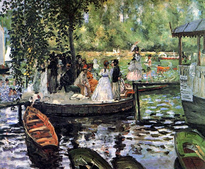 Pierre-Auguste Renoir, La Grenouillère (The Frog Pond), 1869