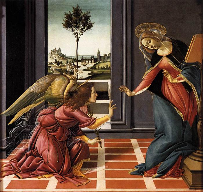 Sandro Botticelli, Annunciation, c.1489