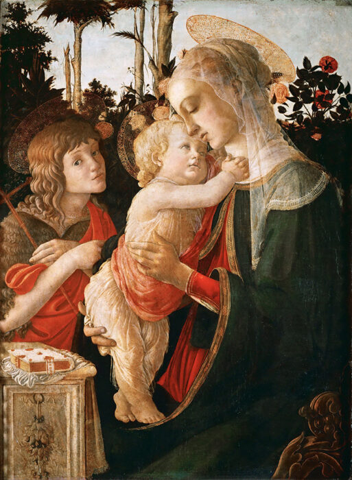 Sandro Botticelli, Madonna and Child With the Young St. John the Baptist, c,1468