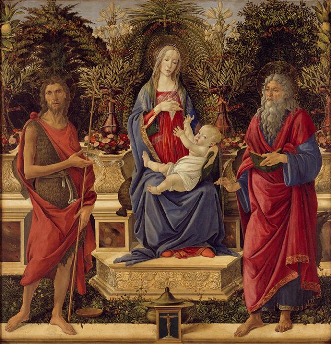 Sandro Botticelli, Madonna with Saints, c.1484