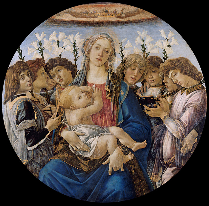 Sandro Botticelli, Mary With the Child and Singing Angels, c.1477