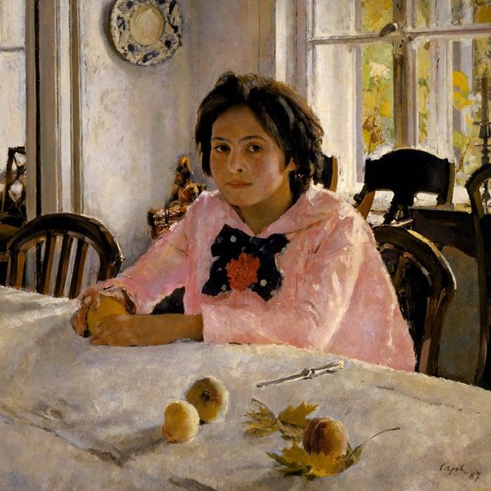 Valentin Serov, Girl With Peaches, 1887