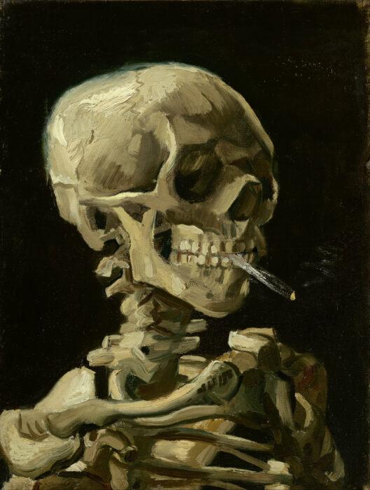 Vincent van Gogh, Skull of a Skeleton with Burning Cigarette, c.1885