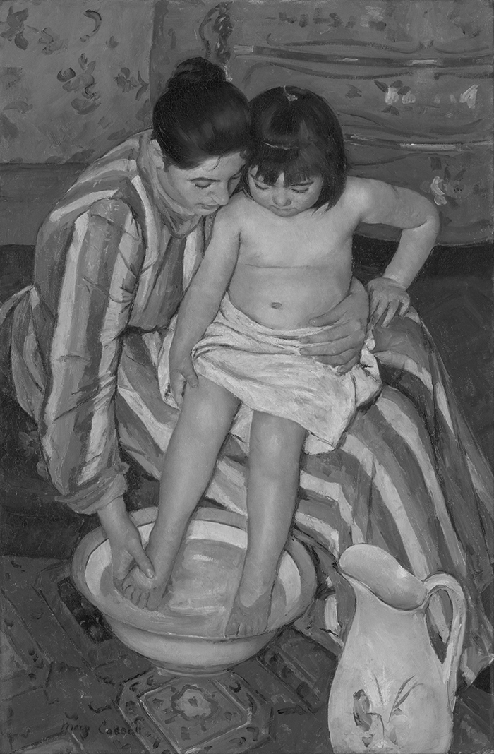 greyscaled_Mary Cassatt, The Child's Bath, 1893 700W