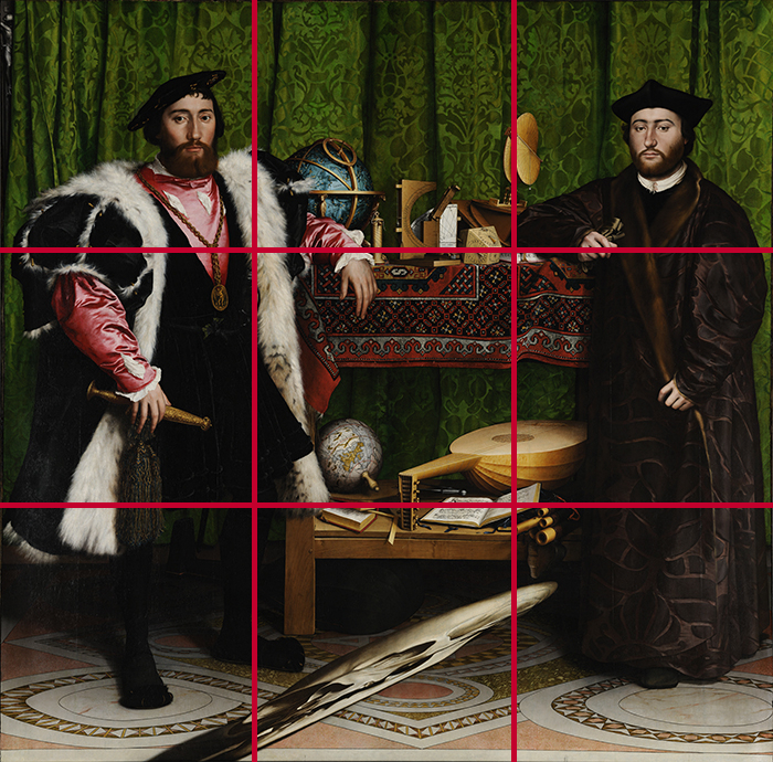 gridlines_Hans Holbein the Younger, The Ambassadors, 1533 700W