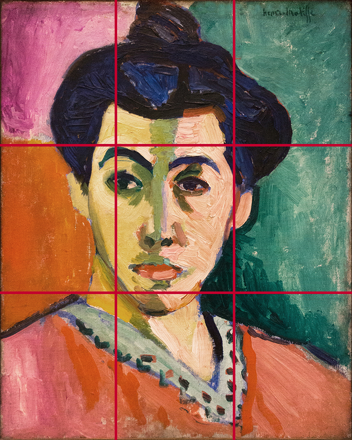 gridlines_Henri Matisse, Portrait of Madame Matisse, The Green Line, 1905 700W