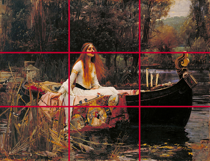 gridlines_John William Waterhouse, The Lady of Shalott, 1888 700W