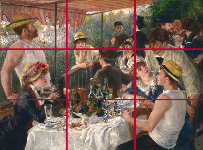 gridlines_Pierre-Auguste Renoir, Luncheon of the Boating Party, 1881 700W