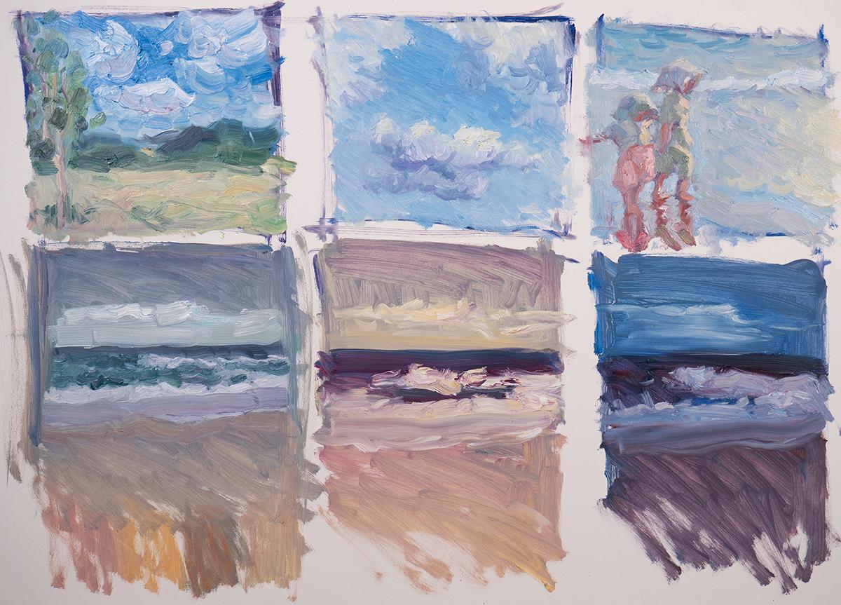 Dan Scott, Maryvale, Sunny Landscape, 2021, Color Studies, 1200W