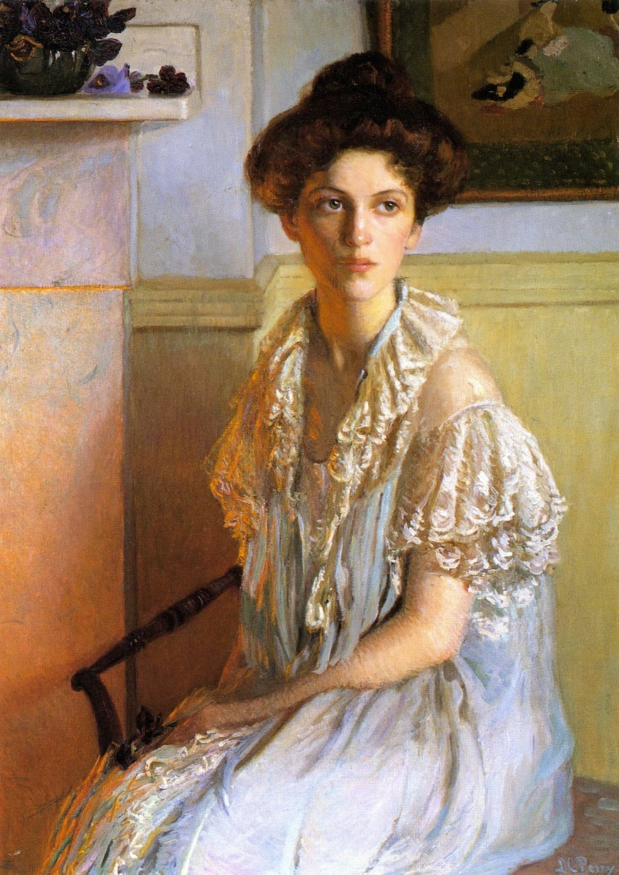 Lilla Cabot Perry, Lady With a Bowl of Violets, 1910