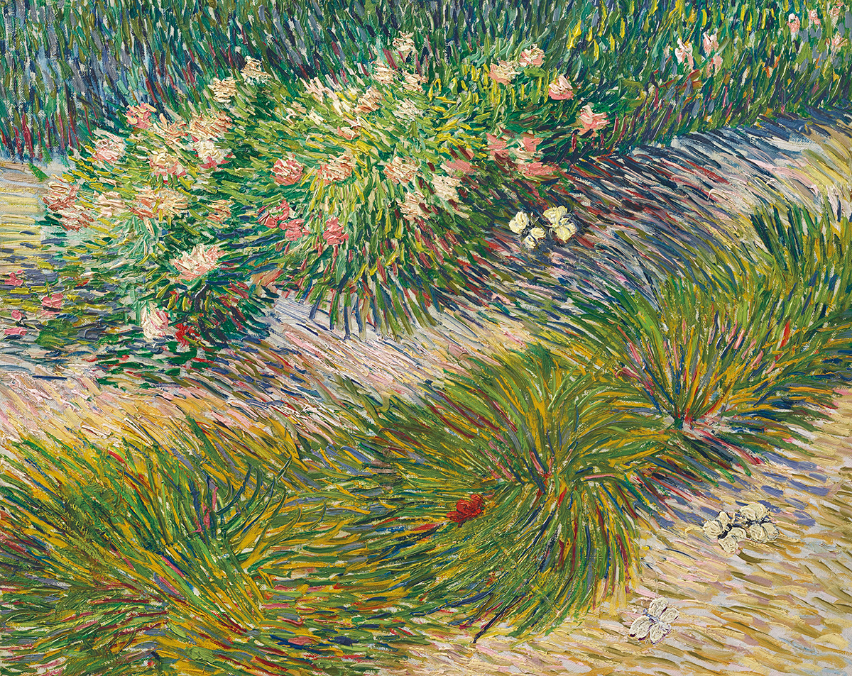 Vincent van Gogh, Grass and Butterflies, 1887