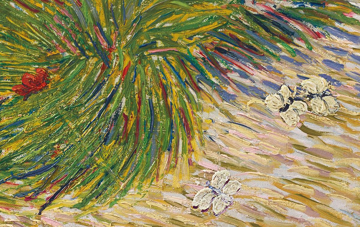 Vincent van Gogh, Garden Coin With Butterflies, 1887 (Detail 1)