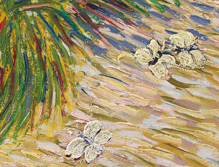 Vincent van Gogh, Garden Coin With Butterflies, 1887 (White Butterflies)