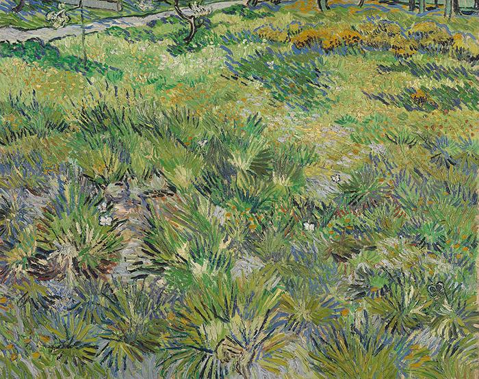 Vincent van Gogh, Long Grass with Butterflies, 1890