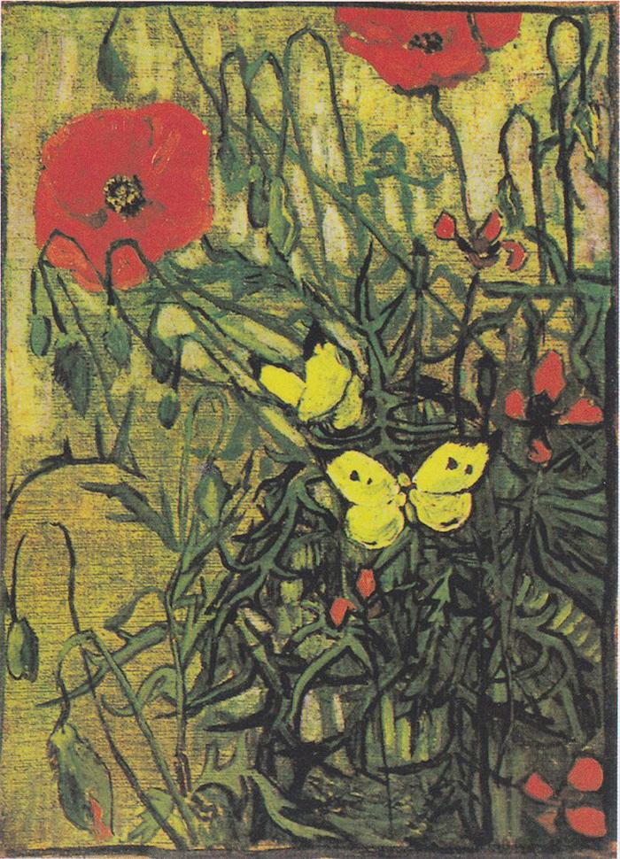 Vincent van Gogh, Poppies and Butterflies, 1890