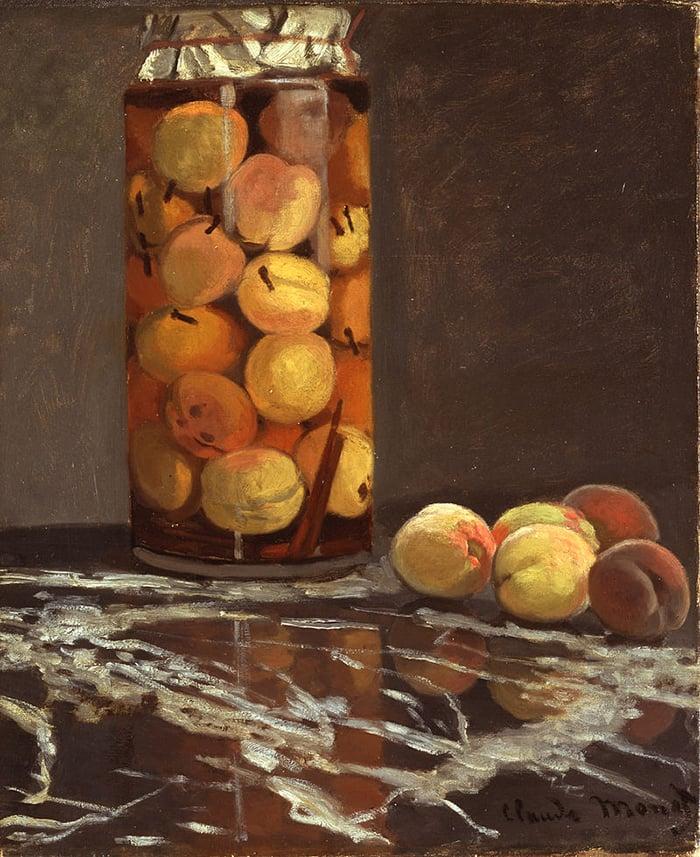 Claude Monet, A Jar of Peaches, c.1866