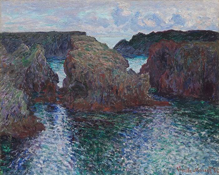 Claude Monet, Belle-Ile, Rocks at Port-Goulphar, 1886
