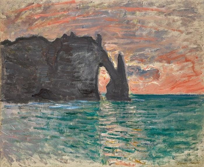 Claude Monet, Étretat, Sunset, 1883