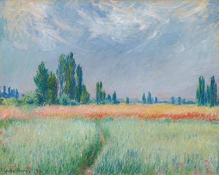 Claude Monet, Wheatfield, 1881