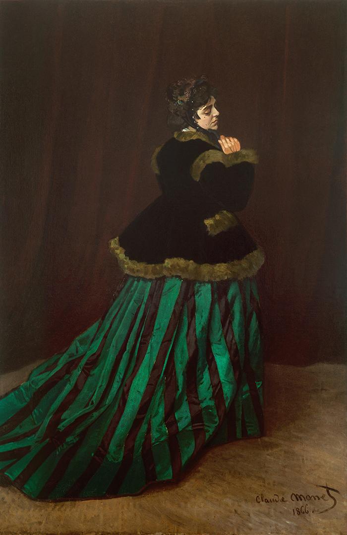 Claude Monet, Woman in the Green Dress, 1866