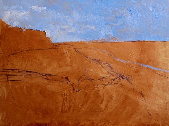 Dan Scott, Gold Coast, Sand Dune, 2021 WIP (4)