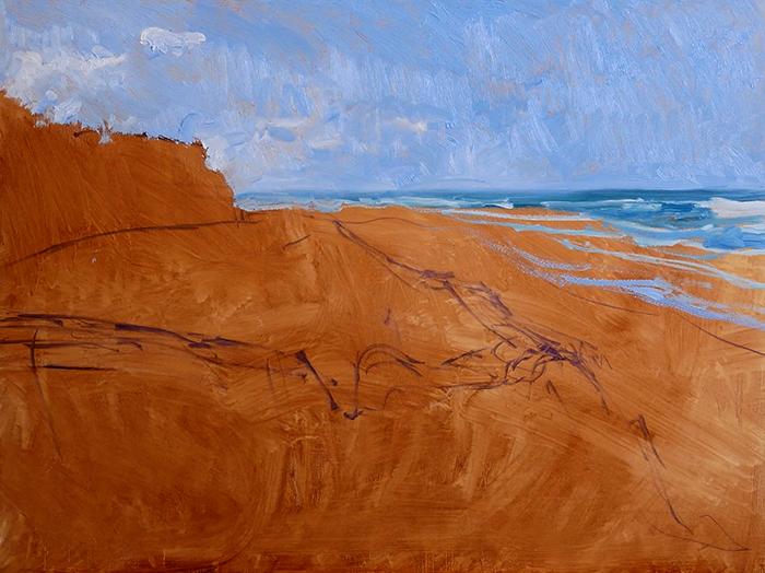 Dan Scott, Gold Coast, Sand Dune, 2021 WIP (5)