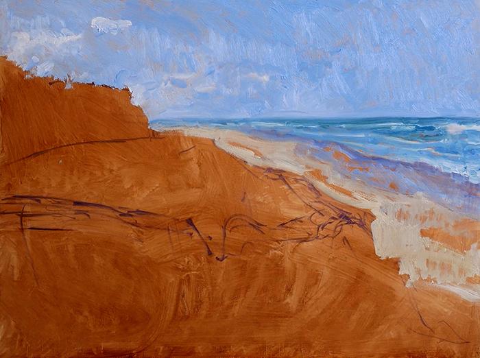 Dan Scott, Gold Coast, Sand Dune, 2021 WIP (6)