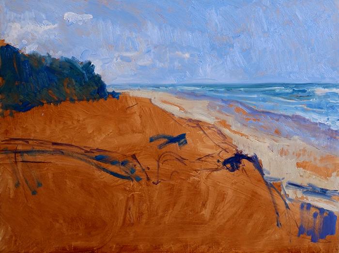 Dan Scott, Gold Coast, Sand Dune, 2021 WIP (7)