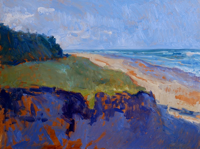 Dan Scott, Gold Coast, Sand Dune, 2021 WIP (9)