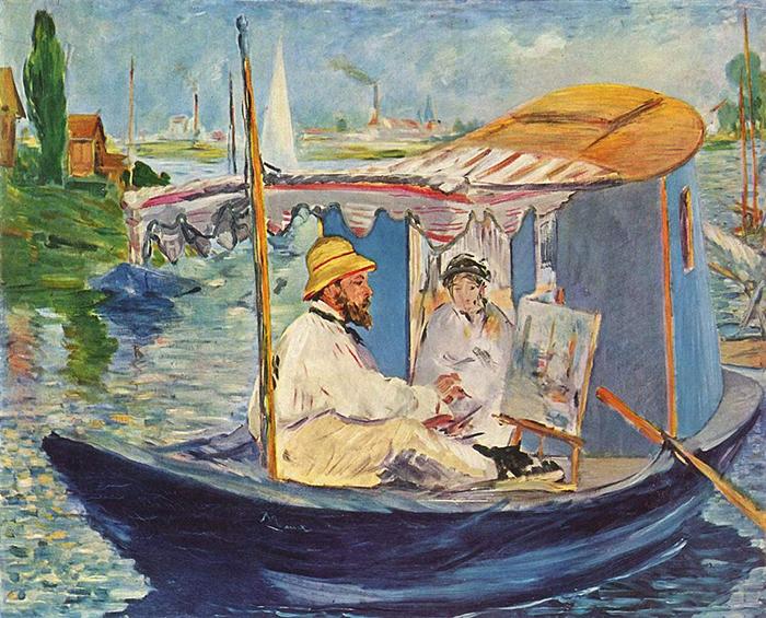 Édouard Manet, Painting of Claude Monet, Seine in Argenteuil, 1874