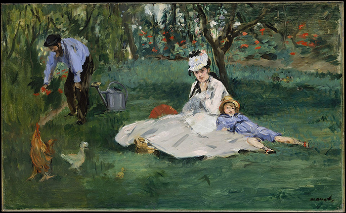 Édouard Manet, The Monet Family in Their Garden at Argenteuil, 1874