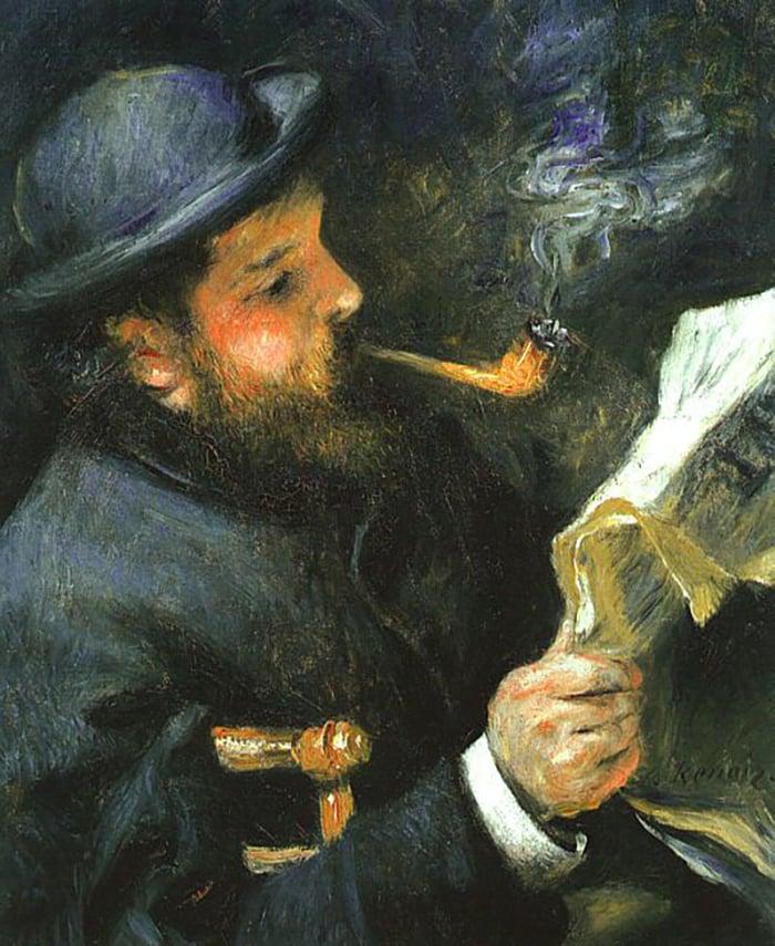 Pierre August Renoir, Claude Monet Reading, 1872