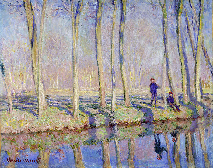 Claude Monet, Jean-Pierre Hoschedé and Michel Monet on the Bank of the Epte, c.1887-1890