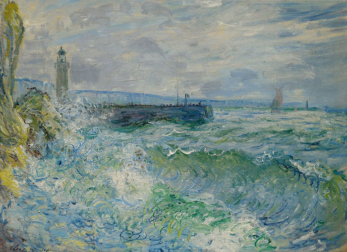 Claude Monet, Jetty at Fecamp in Rough Weather, 1880