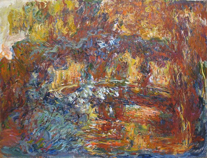 Claude Monet, The Japanese Footbridge, 1920-1922