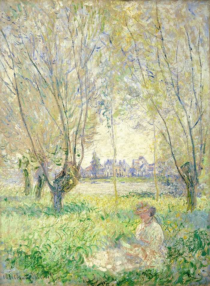 Claude Monet, Woman Seated Under the Willows, 1880