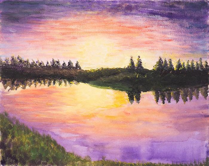Dan Scott, Childhood Painting (1)