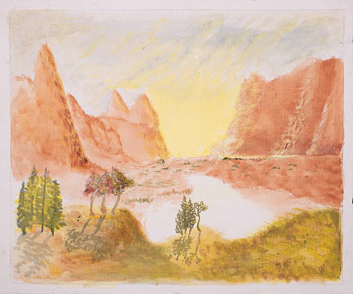 Dan Scott, Childhood Painting (5)